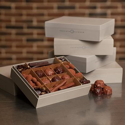 Boite de confiseries au chocolat
